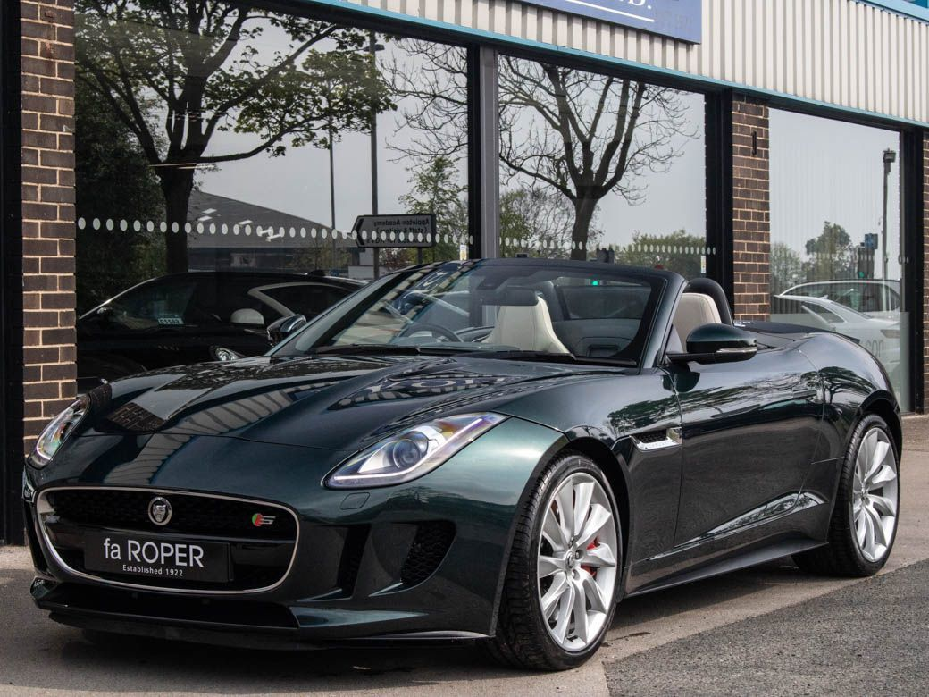 Jaguar F-type Convertible 5.0 Supercharged V8 S Auto Convertible Petrol British Racing Green Special Order PaintJaguar F-type Convertible 5.0 Supercharged V8 S Auto Convertible Petrol British Racing Green Special Order Paint at fa Roper Ltd Bradford
