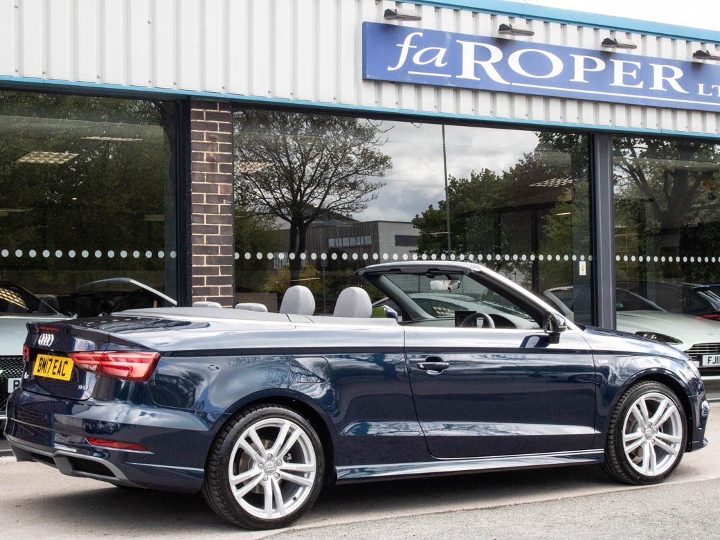 Audi A3 Cabriolet 1.5 TFSI S Line 150ps Convertible Petrol Cosmos Blue Metallic