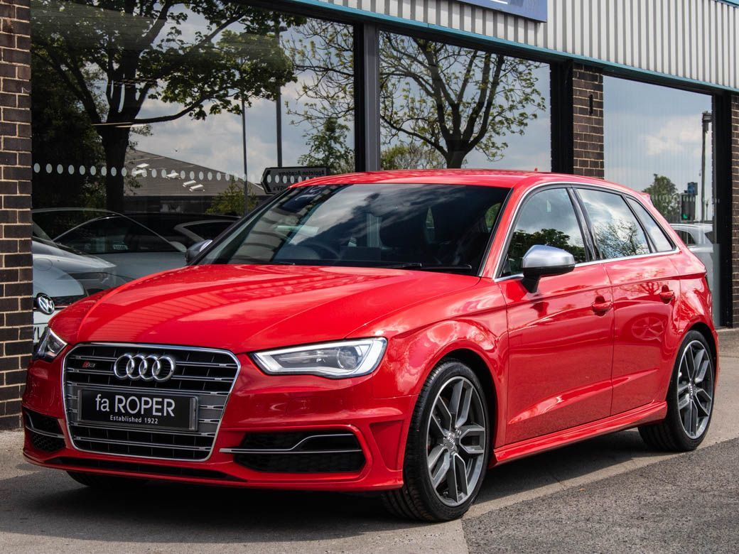 Audi A3 S3 Sportback 2.0 TFSI quattro 6 Speed Hatchback Petrol Brilliant RedAudi A3 S3 Sportback 2.0 TFSI quattro 6 Speed Hatchback Petrol Brilliant Red at fa Roper Ltd Bradford