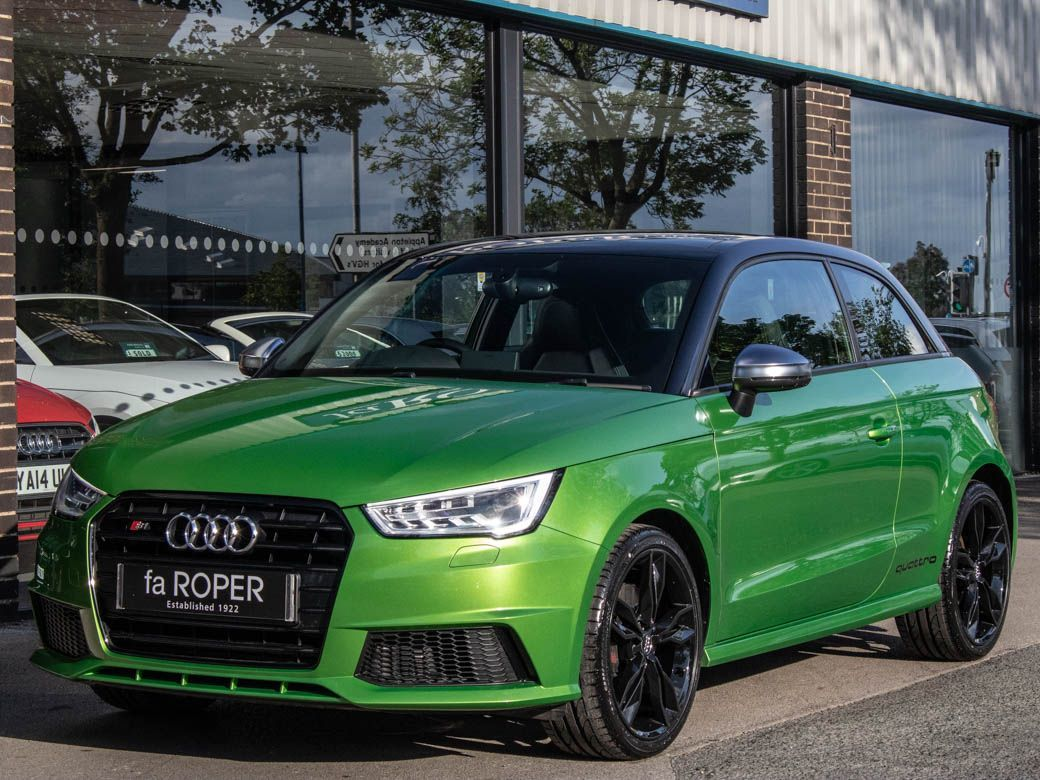 Audi A1 2.0 S1 TFSI quattro 3 door Hatchback Petrol Java Green Exclusive Paint FinishAudi A1 2.0 S1 TFSI quattro 3 door Hatchback Petrol Java Green Exclusive Paint Finish at fa Roper Ltd Bradford