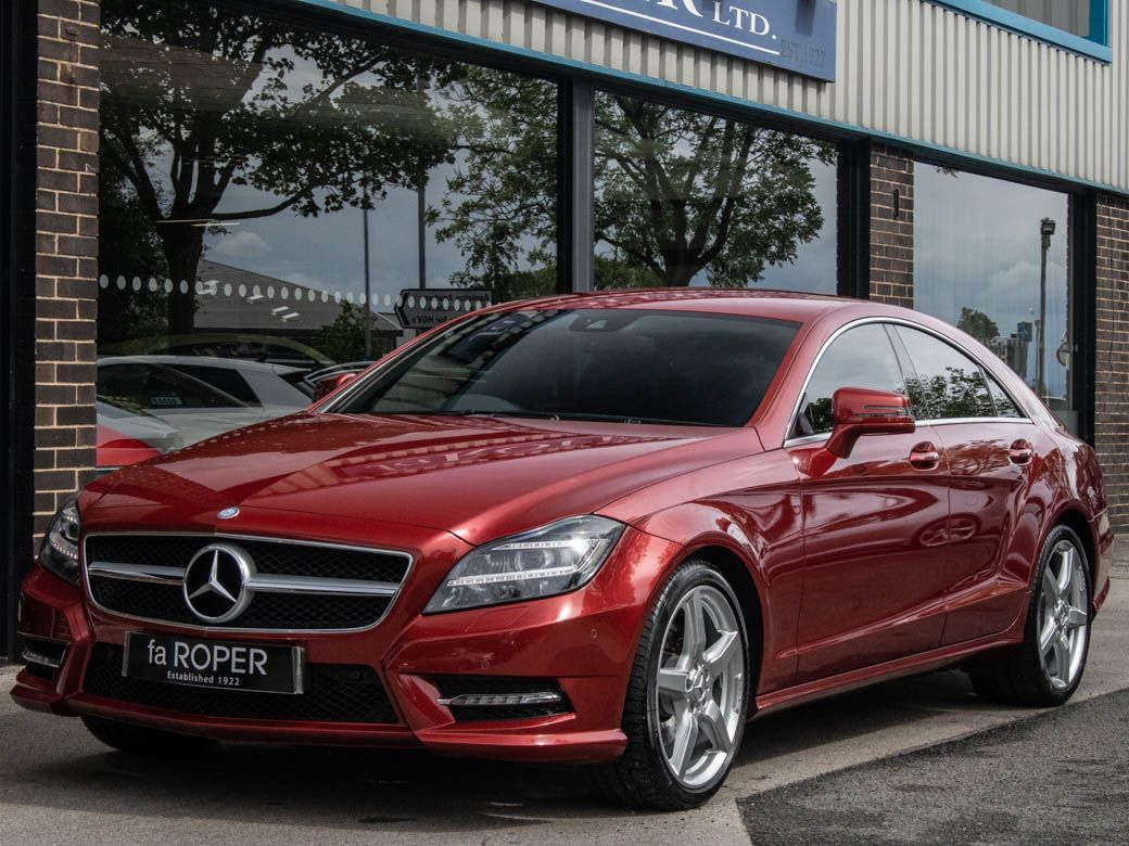 Mercedes-Benz CLS 2.1 CLS250 CDI BlueEFFICIENCY AMG Sport 7G-Tronic Plus (s/s) Coupe Diesel Designo Hyacinth Red MetallicMercedes-Benz CLS 2.1 CLS250 CDI BlueEFFICIENCY AMG Sport 7G-Tronic Plus (s/s) Coupe Diesel Designo Hyacinth Red Metallic at fa Roper Ltd Bradford