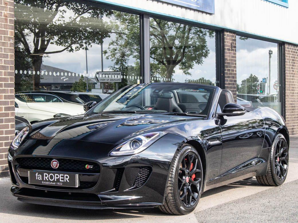 Jaguar F-type 3.0 Supercharged V6 S Convertible Auto (380ps) Convertible Petrol Ebony BlackJaguar F-type 3.0 Supercharged V6 S Convertible Auto (380ps) Convertible Petrol Ebony Black at fa Roper Ltd Bradford
