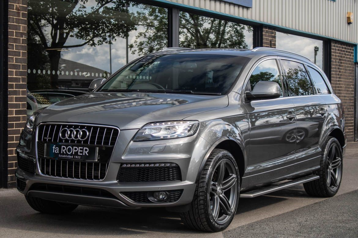 Audi Q7 3.0 TDI quattro S Line Plus Auto 245ps Estate Diesel Graphite Grey MetallicAudi Q7 3.0 TDI quattro S Line Plus Auto 245ps Estate Diesel Graphite Grey Metallic at fa Roper Ltd Bradford