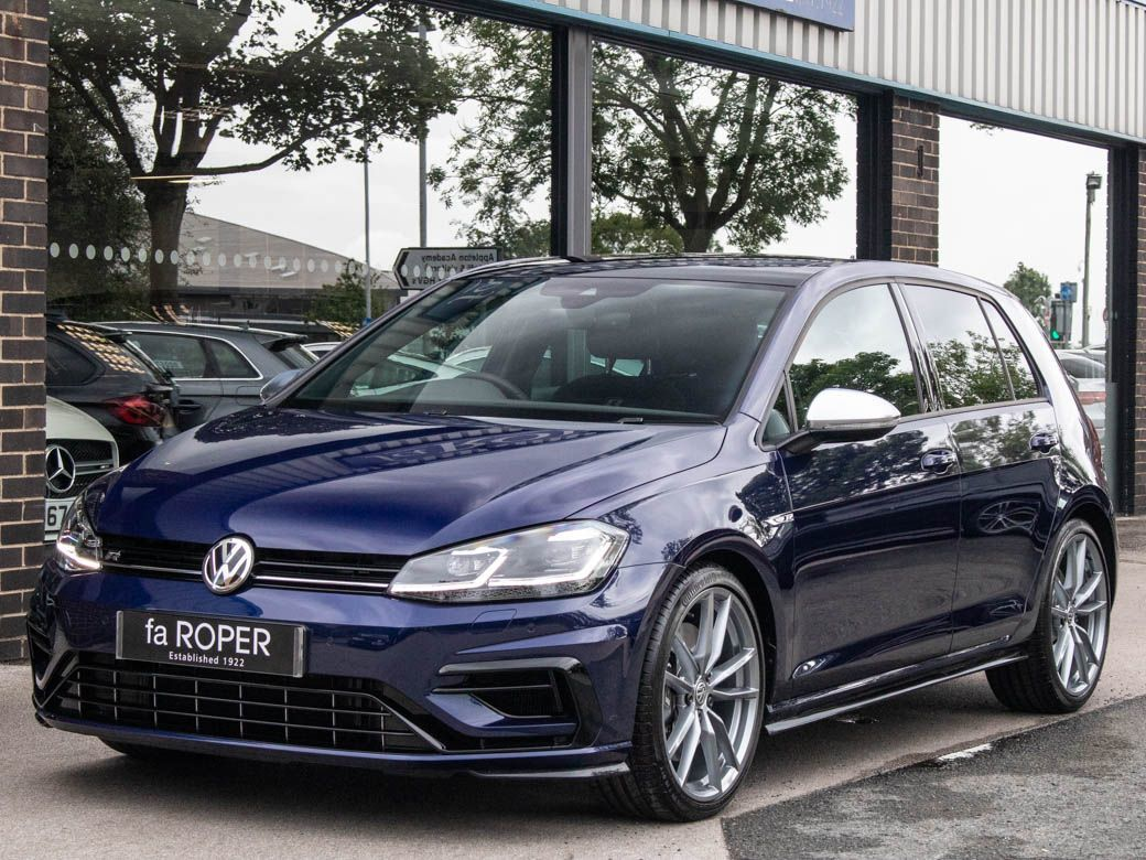 Volkswagen Golf 2.0 TSI R 4MOTION 5 door DSG Hatchback Petrol Atlantic Blue MetallicVolkswagen Golf 2.0 TSI R 4MOTION 5 door DSG Hatchback Petrol Atlantic Blue Metallic at fa Roper Ltd Bradford