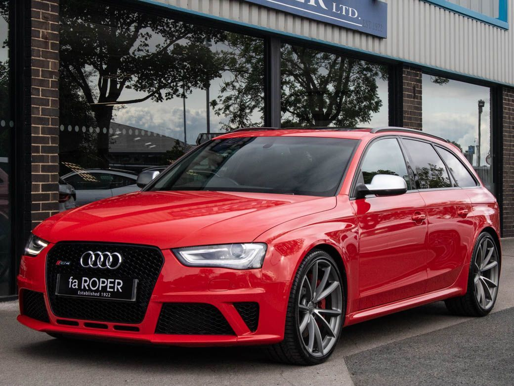 Audi RS4 4.2 FSI quattro S tronic Estate Petrol Misano Red PearlAudi RS4 4.2 FSI quattro S tronic Estate Petrol Misano Red Pearl at fa Roper Ltd Bradford