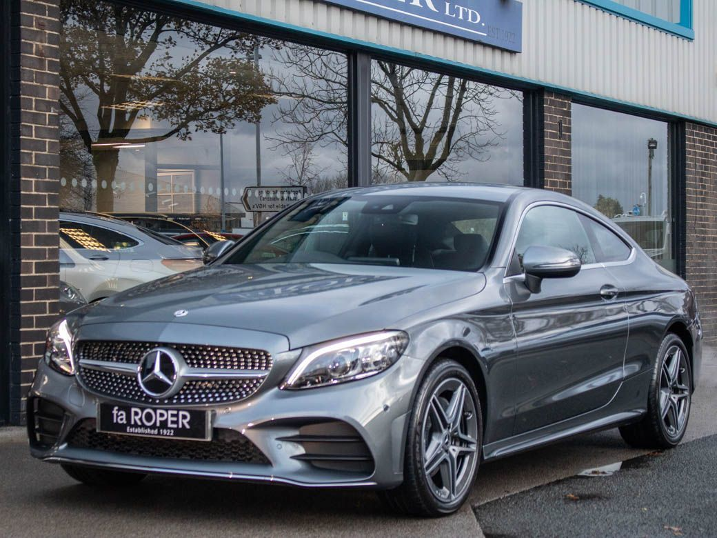 Mercedes-Benz C Class 1.5 C200 Coupe 4Matic AMG Line Premium 9G-Tronic Coupe Petrol Selenite Grey MetallicMercedes-Benz C Class 1.5 C200 Coupe 4Matic AMG Line Premium 9G-Tronic Coupe Petrol Selenite Grey Metallic at fa Roper Ltd Bradford