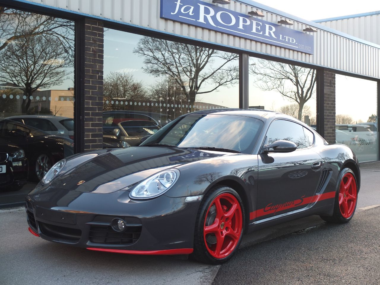 Porsche Cayman 3.4 S (RS Paint Finish) Coupe Petrol Grey Black (Gt3 Rs Colour) With Guards Red DetailPorsche Cayman 3.4 S (RS Paint Finish) Coupe Petrol Grey Black (Gt3 Rs Colour) With Guards Red Detail at fa Roper Ltd Bradford